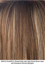 MAPLE SUGAR R | Rooted Dark with Light Honey Brown base with Strawberry Blonde highlights