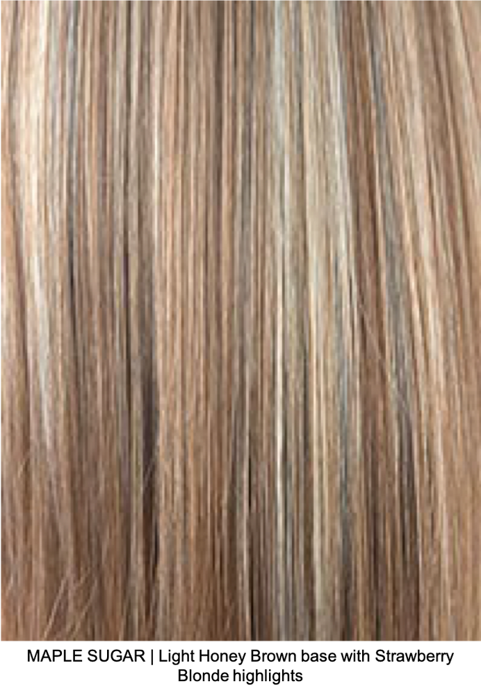 MAPLE SUGAR | Light Honey Brown base with Strawberry Blonde highlights