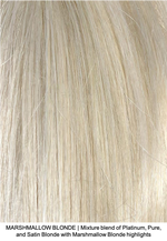 MARSHMALLOW BLONDE | Mixture blend of Platinum, Pure, and Satin Blonde with Marshmallow Blonde highlights
