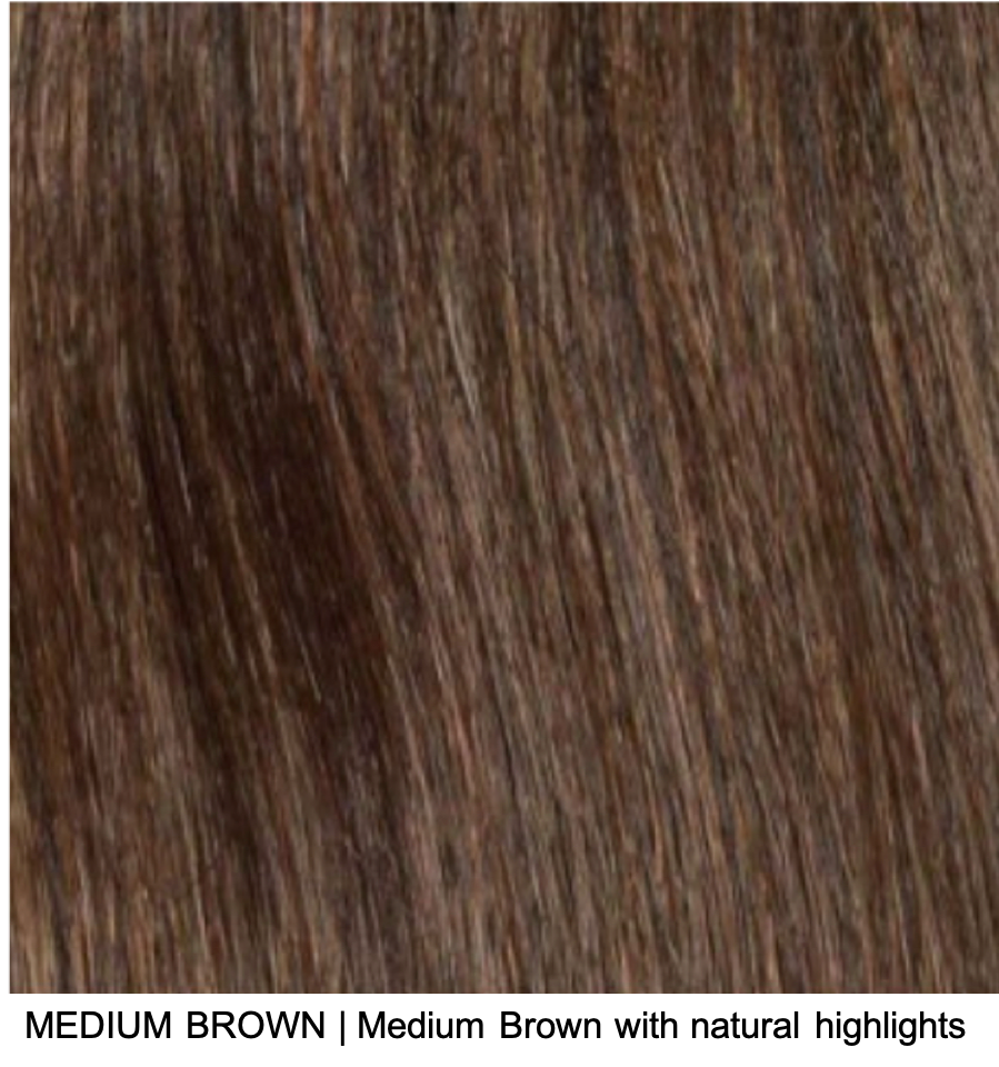 MEDIUM BROWN | Medium Brown with natural highlights