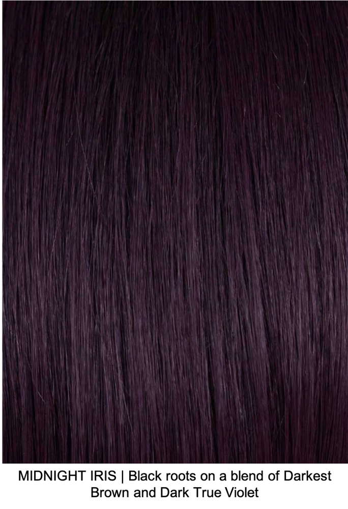 MIDNIGHT IRIS | Black roots on a blend of Darkest Brown and Dark True Violet