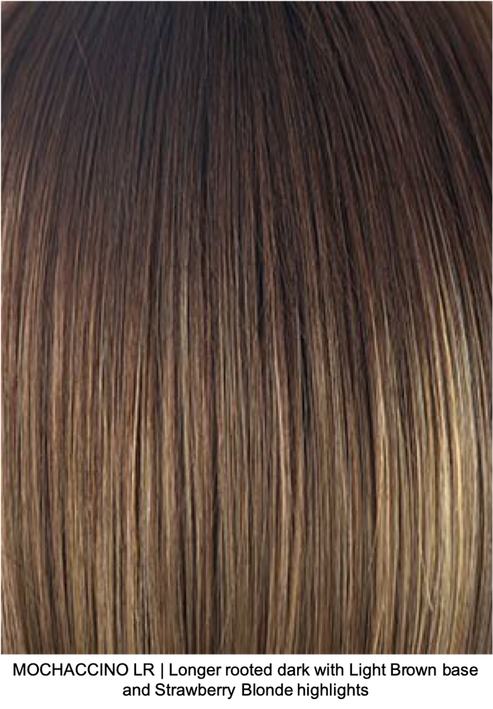 MOCHACCINO LR | Longer rooted dark with Light Brown base and Strawberry Blonde Highlights