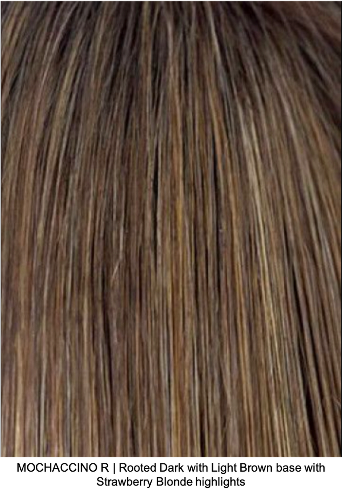 MOCHACCINO R | Rooted Dark with Light Golden Brown base with Strawberry Blonde highlights