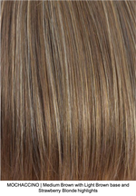 MOCHACCINO | Medium Brown with Light Brown base and Strawberry Blonde highlights