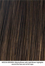 MOCHA BROWN | Mocha Brown with Light Brown highlights around the face and at the nape