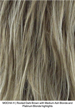 MOCHA H | Rooted Dark Brown with Medium Ash Blonde and Platinum Blonde highlights