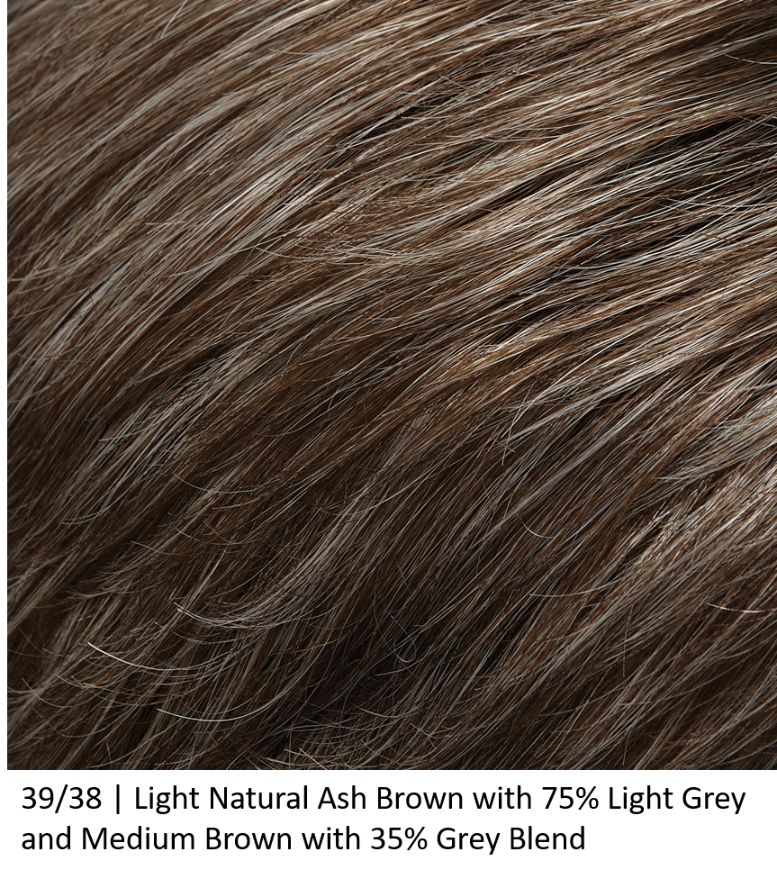 39/38 | Light Natural Ash Brown with 75% Light Grey and Medium Brown with 35% Grey Blend
