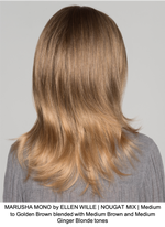 MARUSHA MONO by ELLEN WILLE | NOUGAT MIX | Medium to Golden Brown blended with Medium Brown and Medium Ginger Blonde tones