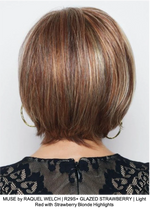 MUSE by RAQUEL WELCH | R29S+ GLAZED STRAWBERRY | Light Red with Strawberry Blonde Highlights