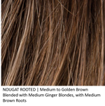 NOUGAT ROOTED | Medium to Gold Brown Blended with Medium Ginger Blondes, with Medium Brown Roots
