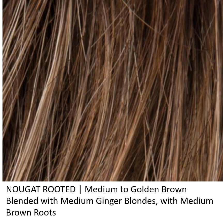 NOUGAT ROOTED | Medium to Golden Brown Blended with Medium Ginger Blondes, with Medium Brown Roots