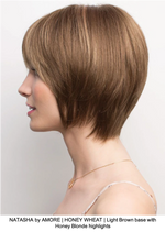 NATASHA by AMORE | HONEY WHEAT | Light Brown base with Honey Blonde highlights