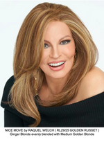 NICE MOVE by RAQUEL WELCH | RL29/25 GOLDEN RUSSET | Ginger Blonde evenly blended with Medium Golden Blonde