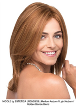 NICOLE by ESTETICA | R30/28/26 | Medium Auburn / Light Auburn / Golden Blonde Blend