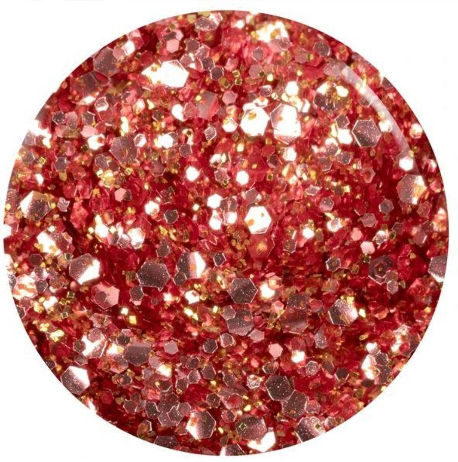 Inexhaustible Charm Nail Lacquer, 0.6floz Rose Glitter Metropolis