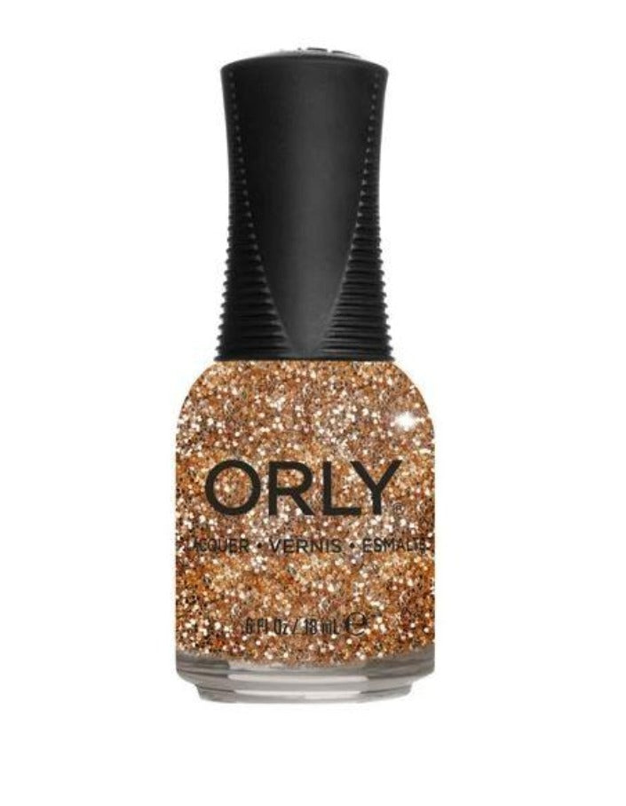 Untouchable Decadence Nail Lacquer, 0.6floz 2020 Metropolis Orly Gold Glitter