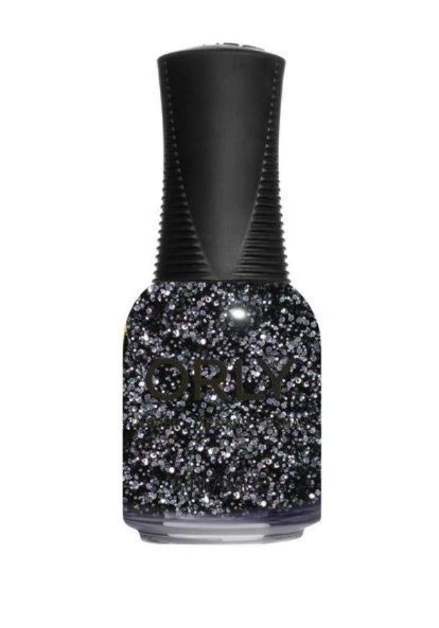 In the Moonlight Nail Lacquer 0.6floz Orly Winter 2020 metropolis Collection black glitter