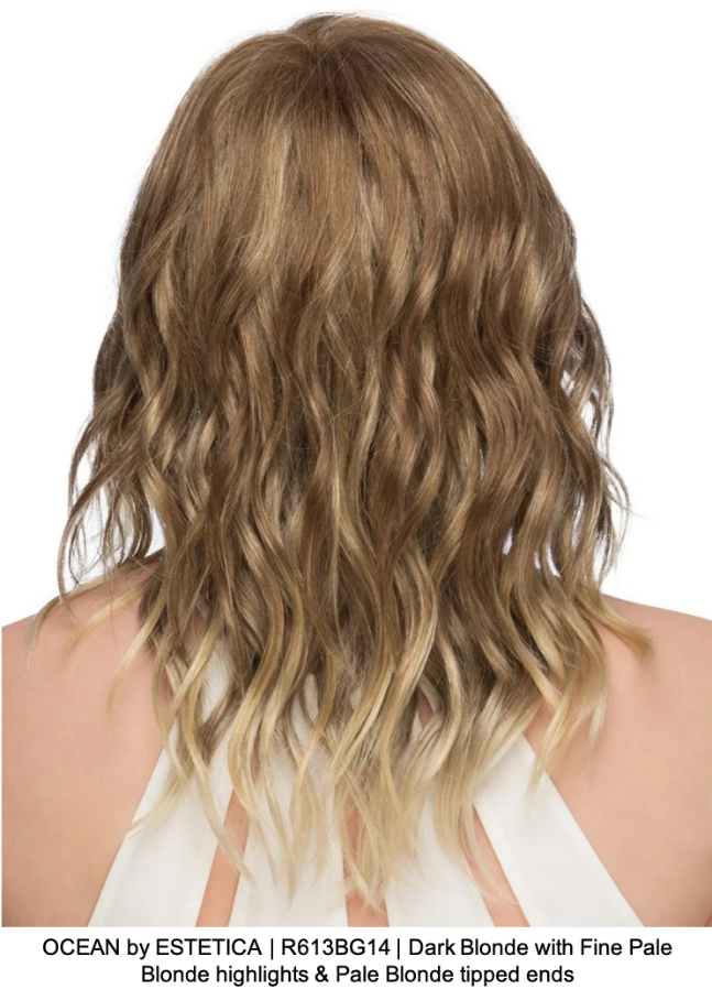OCEAN by ESTETICA | R613BG14 | Dark Blonde with Fine Pale Blonde highlights & Pale Blonde tipped ends