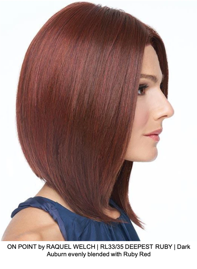 ON POINT by RAQUEL WELCH | RL33/35 DEEPEST RUBY | Dark Auburn evenly blended with Ruby Red