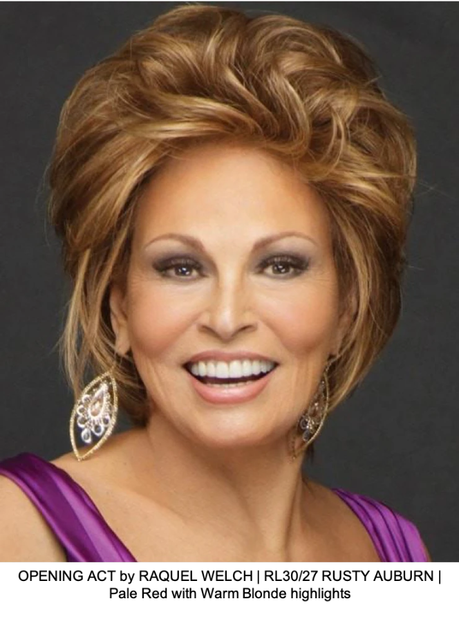 OPENING ACT by RAQUEL WELCH | RL30/27 RUSTY AUBURN | Pale Red with Warm Blonde highlights