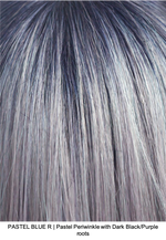 PASTEL BLUE R | Pastel Periwinkle with Dark Black/Purple roots