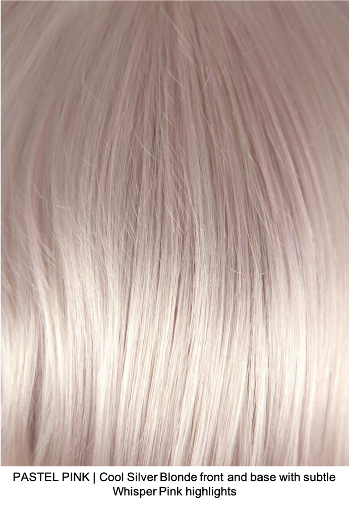 PASTEL PINK | Cool Silver Blonde front and base with subtle Whisper Pink highlights