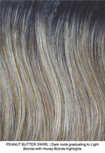 PEANUT BUTTER SWIRL | Dark roots graduating to Light Blonde with Honey Blonde highlights