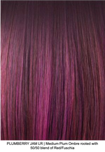 PLUMBERRY JAM LR | Medium Plum Ombre rooted with 50/50 blend of Red/Fuschia
