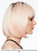 PEACHY KEEN by HAIRDO | PEACH | Light Peachy-Pink with Black roots