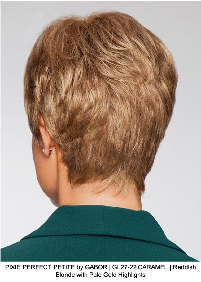 PIXIE PERFECT PETITE by GABOR | GL27-22 CARAMEL | Reddish Blonde with Pale Gold Highlights
