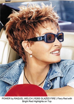 POWER by RAQUEL WELCH | R28S GLAZED FIRE | Fiery Red with Bright Red Highlights on Top