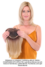 "PREMIUM 14"" STRAIGHT TOPPER by BELLE TRESS 