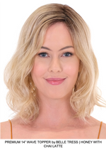 "Premium 14"" Wave Synthetic Lace Front Topper (Hand-Tied)"