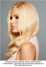 PROVOCATEUR by RAQUEL WELCH | SS26 SHADED CHARDONNAY | Light Golden Blonde with Pearly Highlights and Dark Golden Blonde Roots