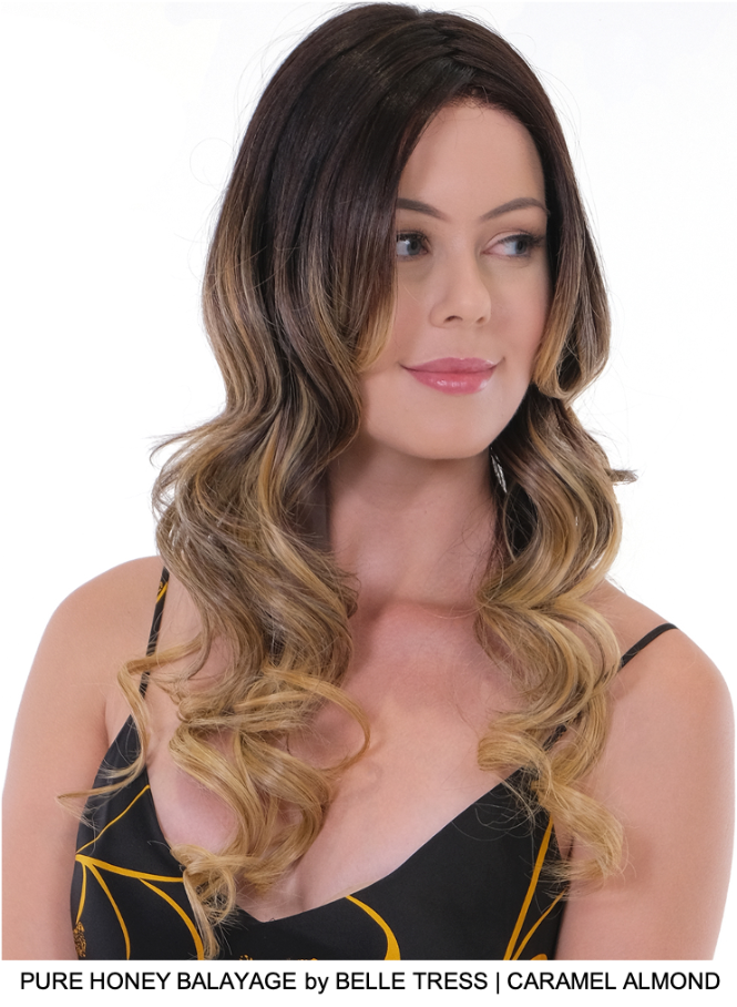 Pure Honey Balayage Synthetic Lace Front Wig