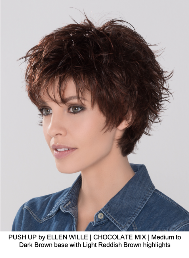 PUSH UP by ELLEN WILLE | CHOCOLATE MIX | Medium to Dark Brown base with Light Reddish Brown highlights