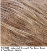 R10/24/80 | Medium Ash Brown with Pale Golden Blonde & Palest Blonde Highlights