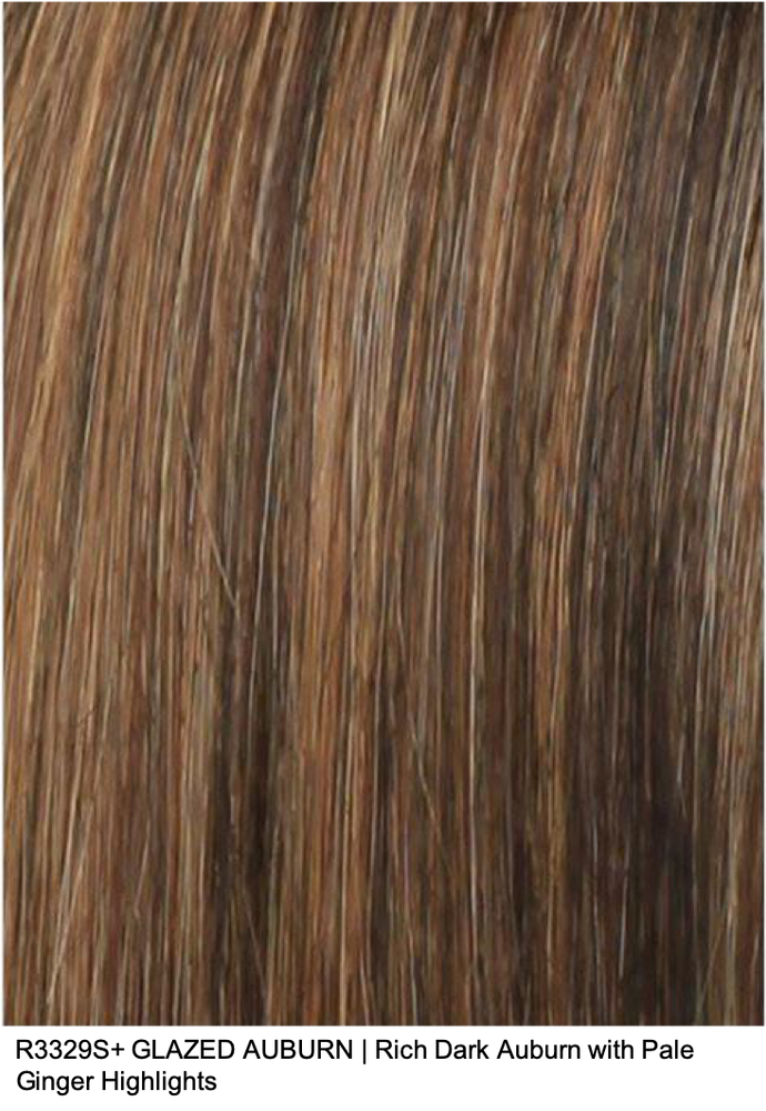 R3329S+ GLAZED AUBURN | Rich Dark Auburn with Pale Ginger Highlights
