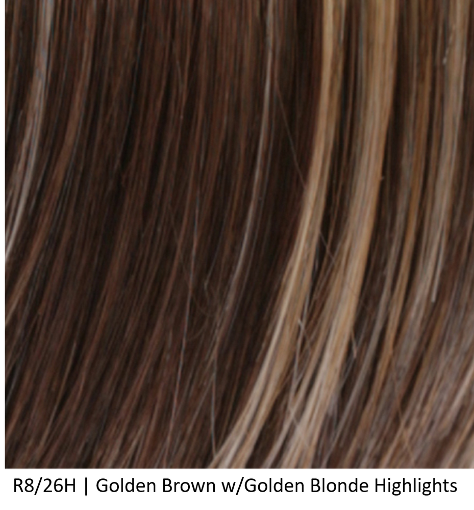 R8/26H | Golden Brown w/ Golden Blonde Highlights