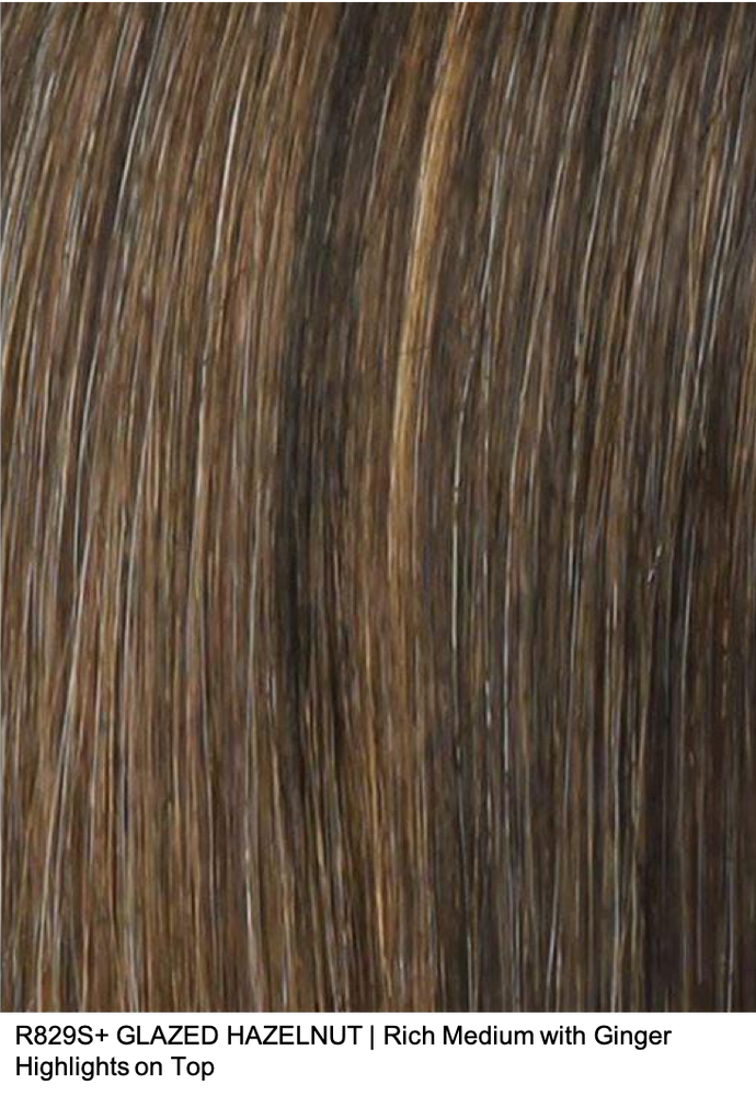 R829S+ GLAZED HAZELNUT | Rich Medium with Ginger Highlights on Top