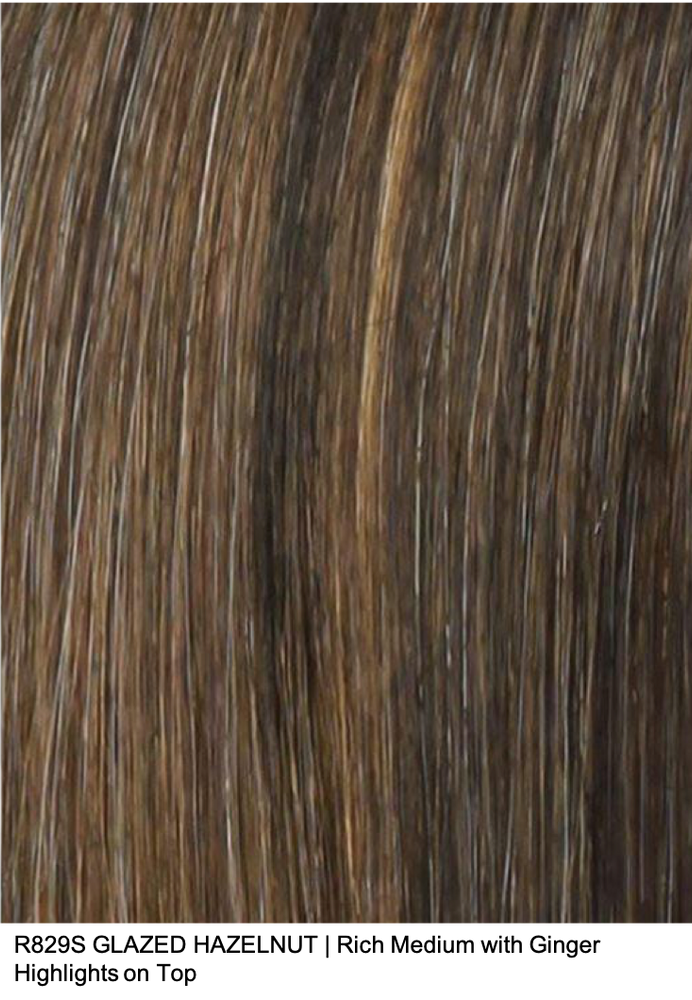 R829S GLAZED HAZELNUT | Rich Medium with Ginger Highlights on Top