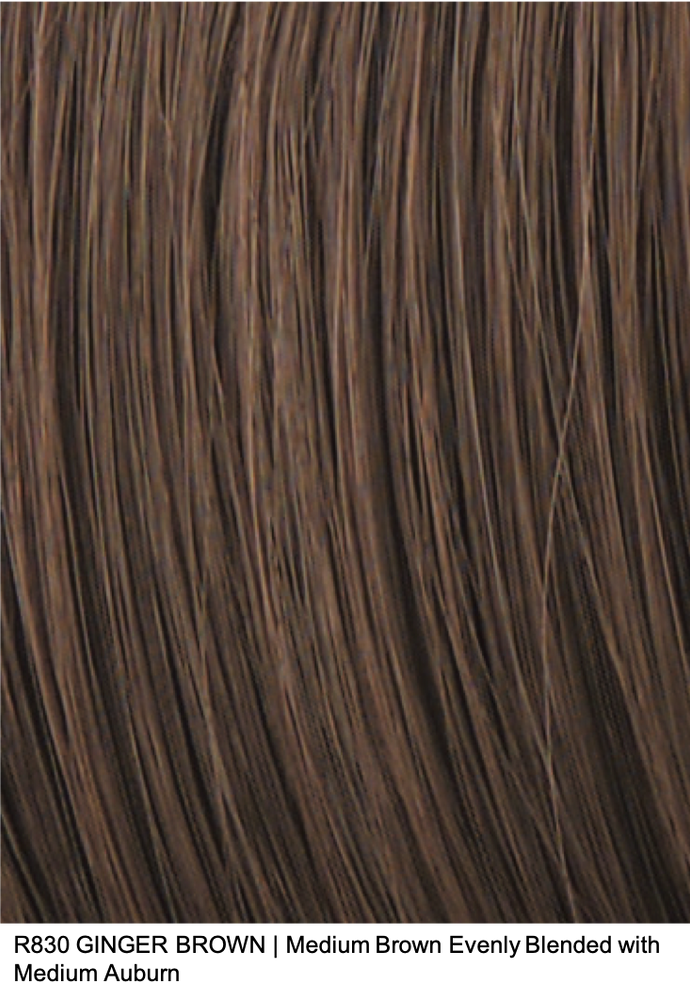 R830 GINGER BROWN | Medium Brown Evenly Blended with Medium Auburn