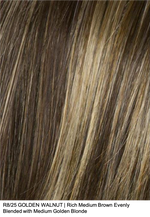 R8/25 GOLDEN WALNUT | Rich Medium Brown Evenly Blended with Medium Golden Blonde