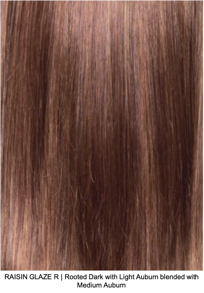 RAISIN GLAZE R | Rooted Dark with Light Auburn blended with Medium Auburn