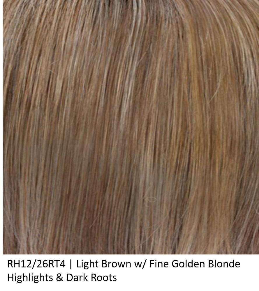 RH12/26RT4 | Light Brown w/ Fine Golden Blonde Highlights & Dark Roots