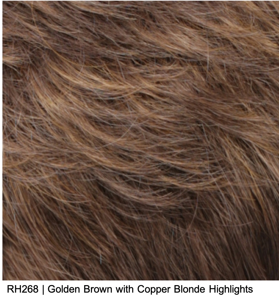 RH268 | Golden Brown with Copper Blonde Highlights