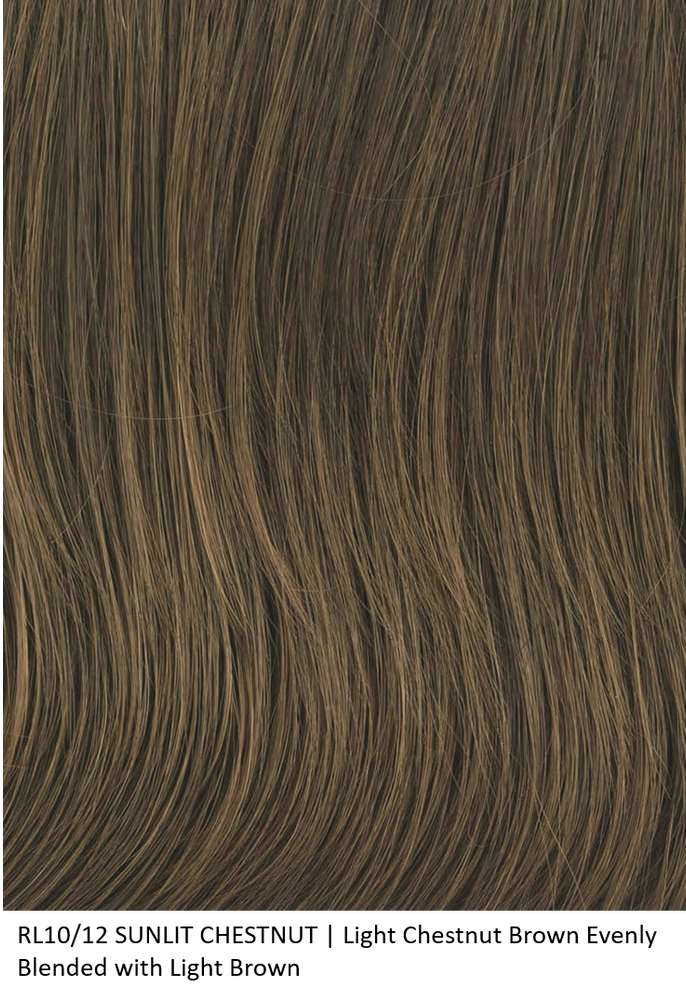 RL10/12 SUNLIT CHESTNUT | Light Chestnut Brown Evenly Blended with Light Brown by Raquel Welch