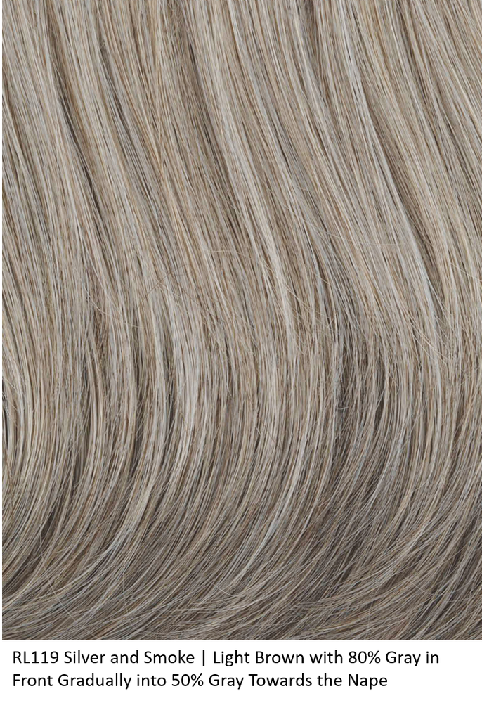 RL119 SILVER AND SMOKE | Light Brown with 80% Gray in Front Gradually into 50% Gray Towards the Nape