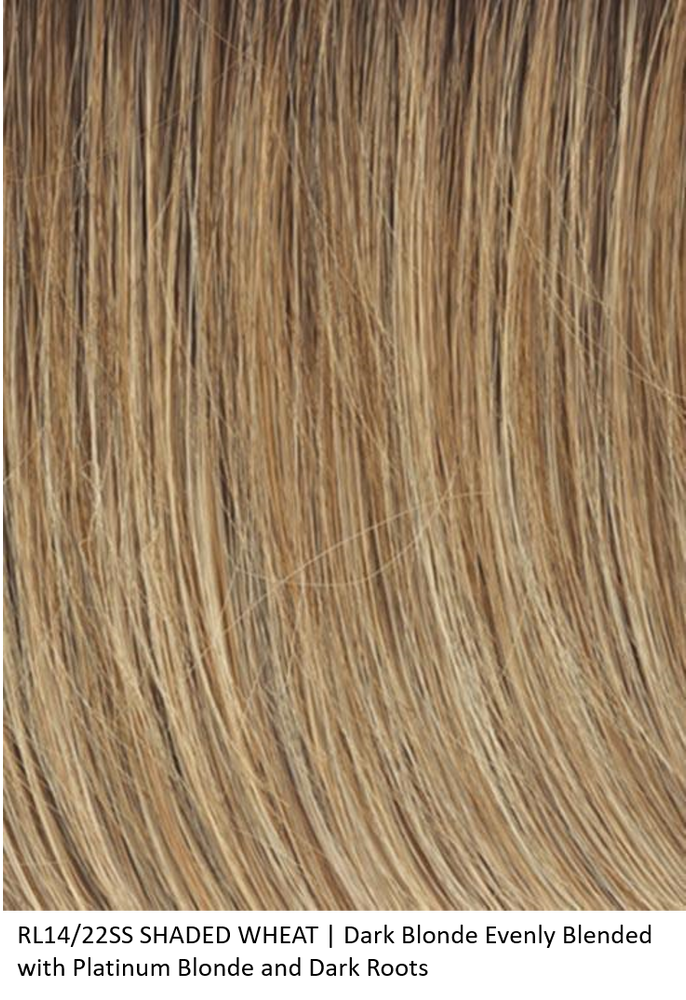 RL14/22SS SHADED WHEAT | Dark Blonde Evenly Blended with Platinum Blonde and Dark Roots by Raquel Welch