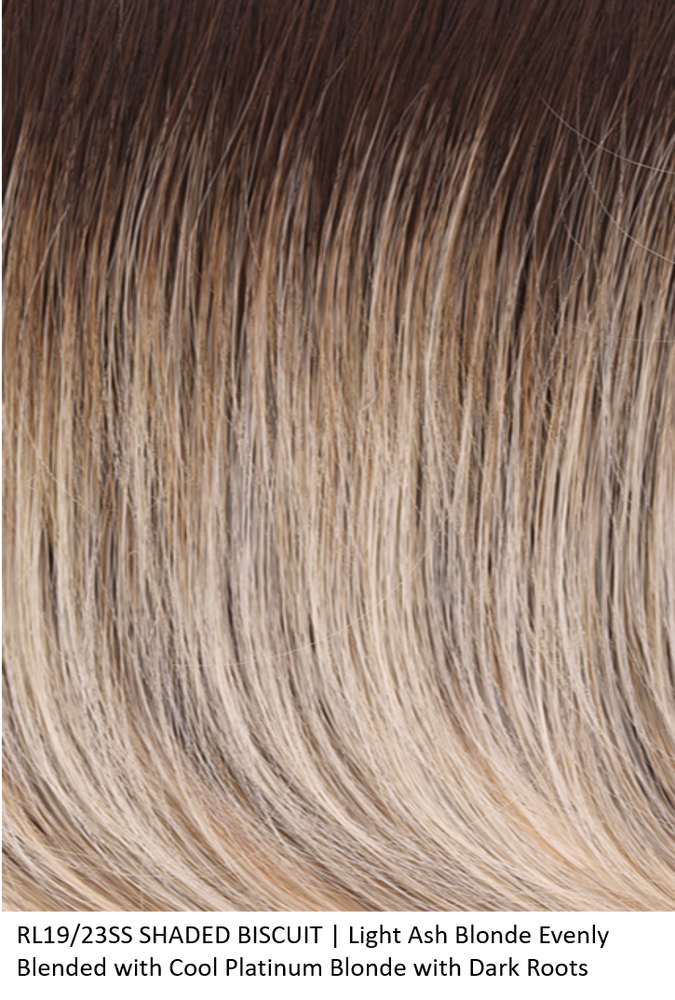 RL19/23SS SHADED BISCUIT | Light Ash Blonde Evenly Blended with Cool Platinum Blonde and Dark Roots by Raquel Welch